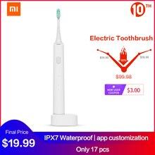 Xiaomi sonic escova de dentes elétrica recarregável mijia controle app ultra sonic escova de dentes ipx7 à prova dwireless água usb carregamento sem fio