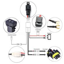 12V 40A Relay Plastic H11 Fog Light Wiring Harness Sockets Wire LED indicators Switch Interior parts High Quality 12v 24v relay harness control cable for h4 hi lo hid bulbs wiring controller
