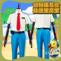 Game Animal Crossing New Horizons Moree Cosplay Costume Daily Men Women's Uniform Full Set Halloween Shirts Pants Outfit