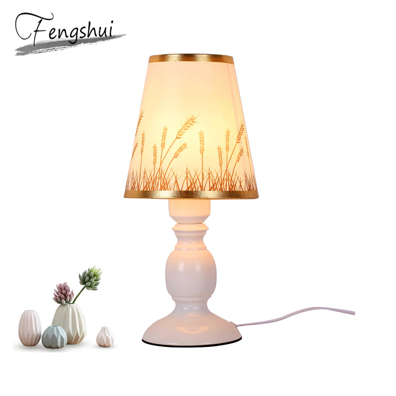 Nordic LED Cloth Table Lights Bedroom Living Room Table Lights Lighting Modern Reading Desk Lamp Lamp Indoor Decor Light Fixture