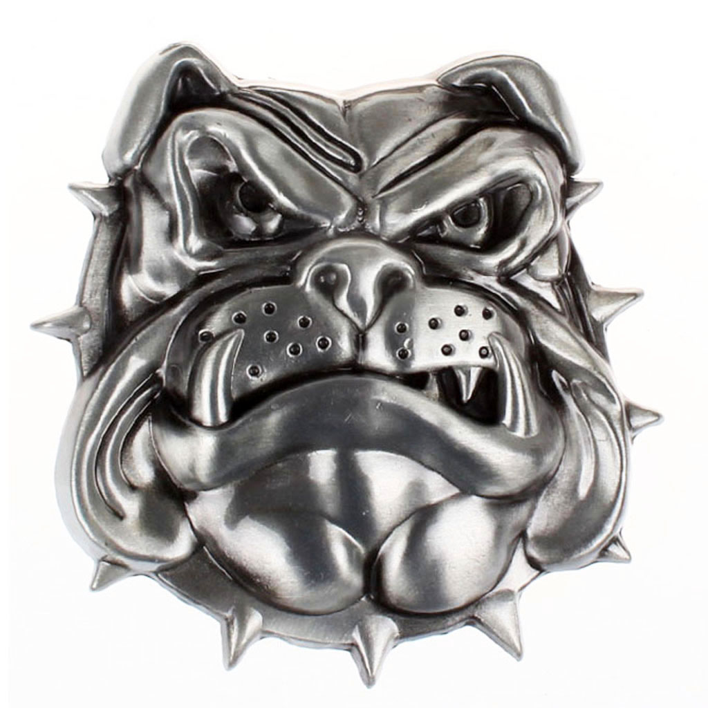 Antique 3D Dog Head Pattern Rodeo Mens American Belt Buckle Cowboy Western India Belt Buckle For 3.6-3.9cm Belt