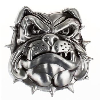 Antique 3D Dog Head Pattern Rodeo Mens American Belt Buckle Cowboy Western India Belt Buckle For 3.6-3.9cm Belt