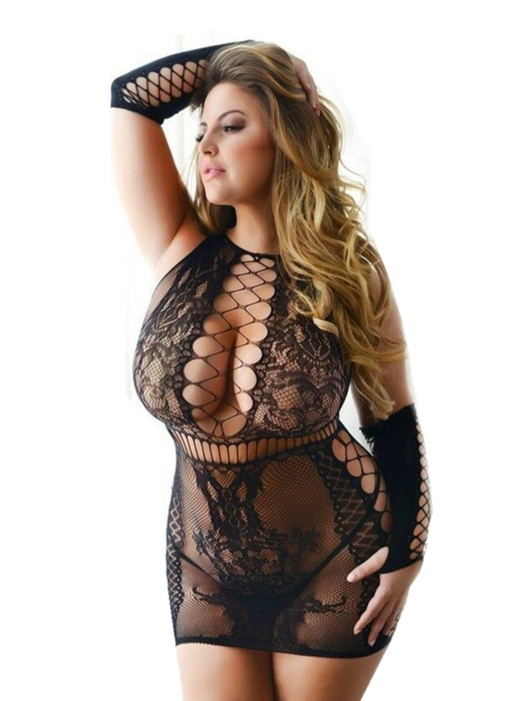 Sexy Lingerie Clothing Costumes Fishnet Body-Suits Open-Crotch Exotic Leopard Female