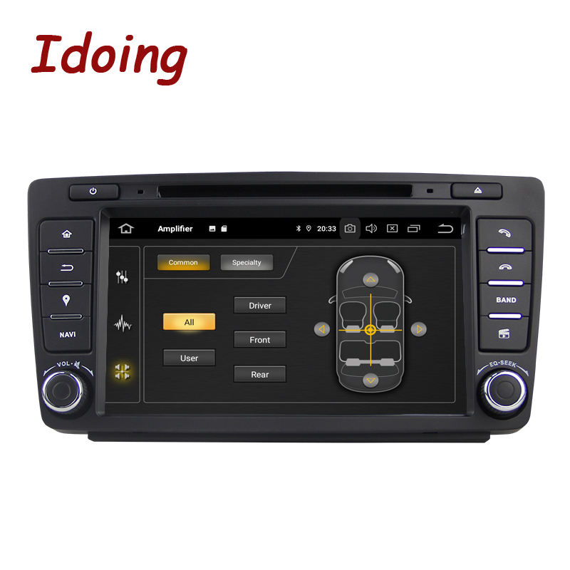 Image 3 - Idoing Android 9.0 4G+64G 8Core 2Din Steering Wheel For Skoda Octavia 2 Car Multimedia DVD Player 1080P HDP GPS+Glonass 2 din-in Car Multimedia Player from Automobiles & Motorcycles
