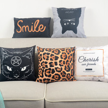 Ins Nordic Marble Pillow Cover Customize Leopard Cat Pattern Throw Cushion Super-soft Velvet Home Sofa Bedroom Decoration