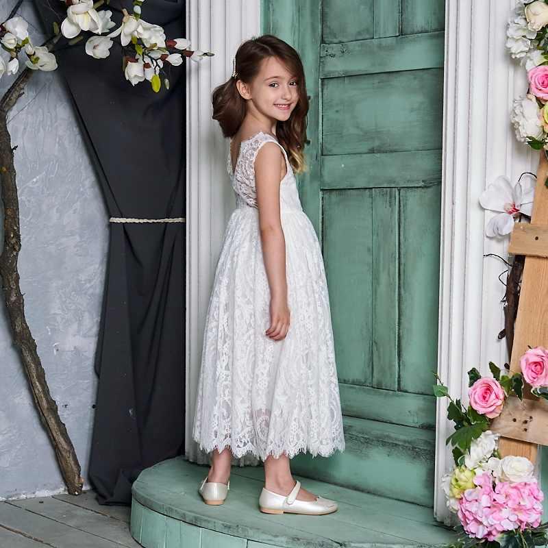 Vestido de princesa para meninas, crianças, creme branco, laço, sem mangas, vestido de festa, alto baixo, roupas de praia, e17125