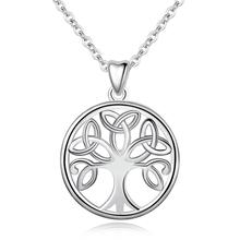 Ожерелье EUDORA из стерлингового серебра 925 пробы с кулоном в виде дерева жизни, ирландский сельтик, узел, кренн, бетадон, серебряные ювелирные изделия для женщин и девушек CYD147