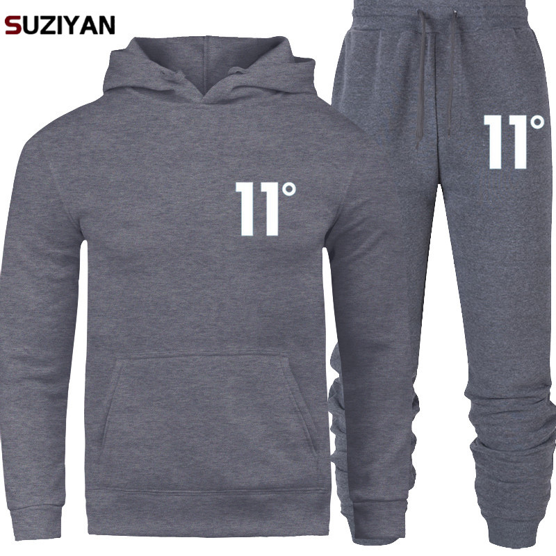 Print 11 Sportswear Tracksuit Sets Men Men Thermal Underwear Fleece Thick Hoodie+pants Malechandal Sporting Suit 2019 New Brand