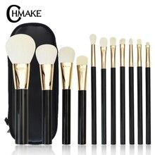 CHMAKE 11PCS makeup brushes set professional foundation powder make up brush tool kit Actylic handle high quality goat hair цена в Москве и Питере