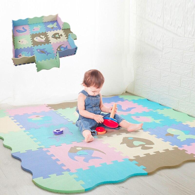 25/9PCS Kids Toys EVA Children's Mat Foam Carpets Soft Floor Mat Puzzle Baby Play Mat Floor Developing Crawling Rugs