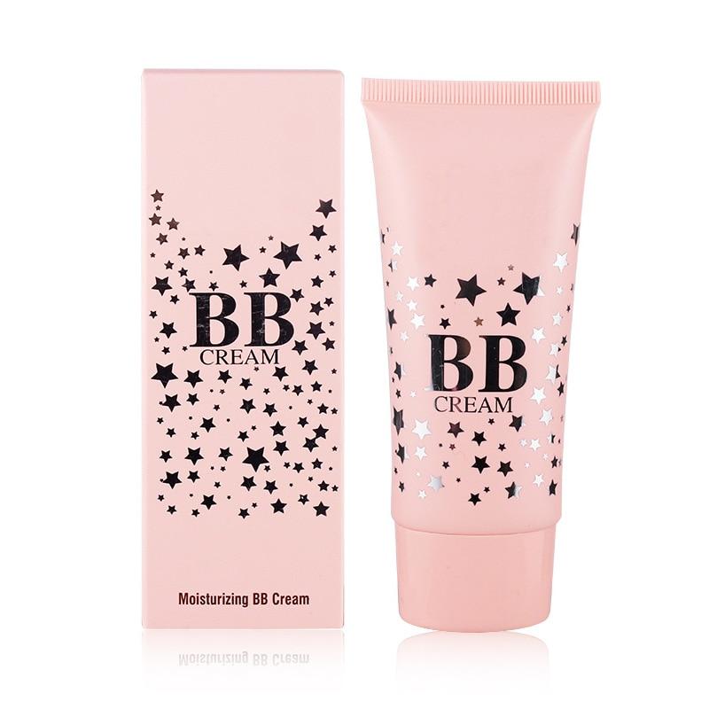 Face Makeup Base BB Cream Smooth Matte Liquid Foundation Skin Brighten Cosmetics Nude Concealer Natural Color Make Up Creams 1Pc
