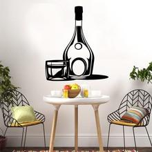 Wall Stickers Modern Fashion Sticker For Home Decor Living Room Bedroom Waterproof Wallpaper Fun Wine LW508