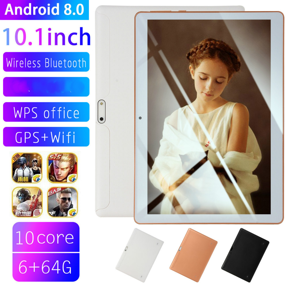 2020 WiFi Tablet PC 1280*800 IPS 10 Inch Ten Core 6G+128G Android 7.1 Dual SIM 4G Network Dual Camera Tablet GPS Phone Pad