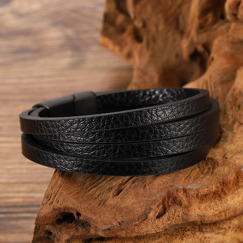 Bracelets personnalisés multicolores pour hommes, disponibles en acier inoxydable, 6 choix pour cadeau, Style classique Bracelet à breloques 2