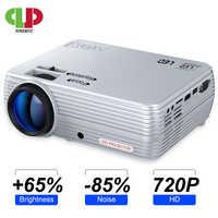 LEISTUNGSSTARKE MINI Projektor X5 + 1280*720P Full HD Proyector 2600 Lumen Kompatibel mit TV Stick, PS4, HDMI, VGA, TF, AV und USB