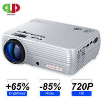 POWERFUL MINI Projector X5+ 1280*720P Full HD Proyector 2600 Lumens Beamer Compatible with TV Stick, PS4, HDMI, VGA, TF and USB