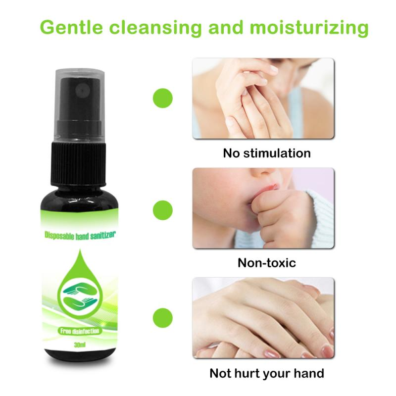 1PC Portable Health Care Anti Influenza Children Adults Long-lasting Antibacterial Disposable Hand Sanitizer 30ml TSLM1