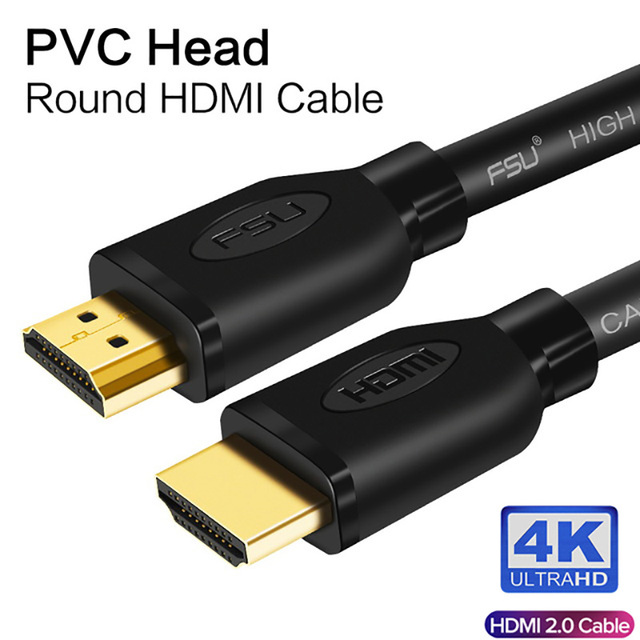 Кабель HDMI в HDMI 2,0 4k HD 1080P 3D, высокоскоростной адаптер HDMI для ТВ проектора, компьютера, 1 м, 1,5 м, 2 м, 3 м