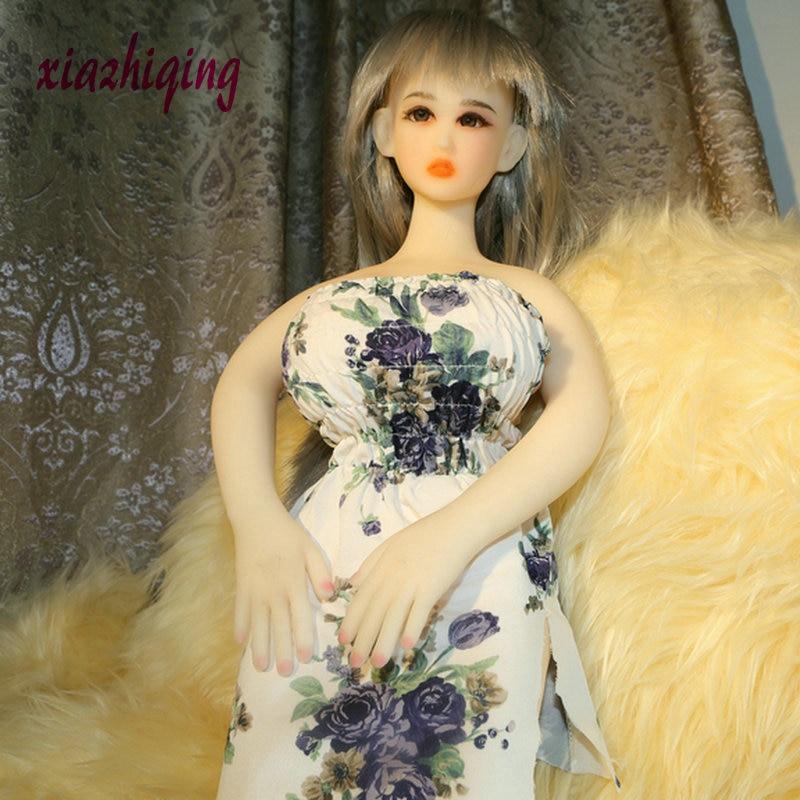 65cm 69cm tamanho Mini boneca Sexual realista boneca do amor de silicone de corpo inteiro bonito big mama Anal/Vaginal brinquedos do sexo para homens