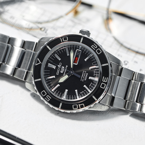 Image 2 - seiko watch men 5 automatic watch top brand luxury Sport men watch set waterproof mechanical military watch relogio masculinoSNZ