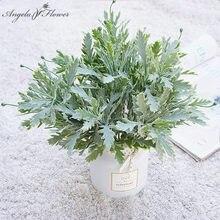 Nordic Mini Chrysantheme Blatt Künstliche Blume Gefälschte Blume Material Grün Pflanzen Wand Landschaft Hause Hochzeit Foto Requisiten Decor
