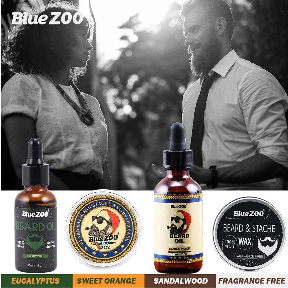 Natural Face Beard Styling Oil Beard Balm Moustache Wax Cream Oil Nourishing Smoothing Beard Growth Oil For Men Beard Care Kit