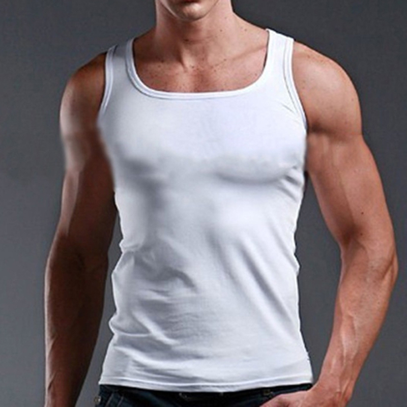 Man Clothing Bodybuilding Tank Top Men Fitness Singlet Sleeveless Shirt Solid Cotton Sleeveless Shirt Muscle Vest 2020