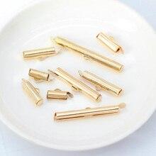 50p 10-40 мм обжимные концевые бусины скользящие на конце застежки трубки ползунок концевые колпачки Diy ожерелье браслет соединители ювелирные изделия