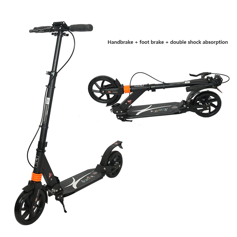 Factory direct adult scooter all-aluminum scooter folding lift two-wheeled scooter Road Electric Scooter Adult Strong powerful