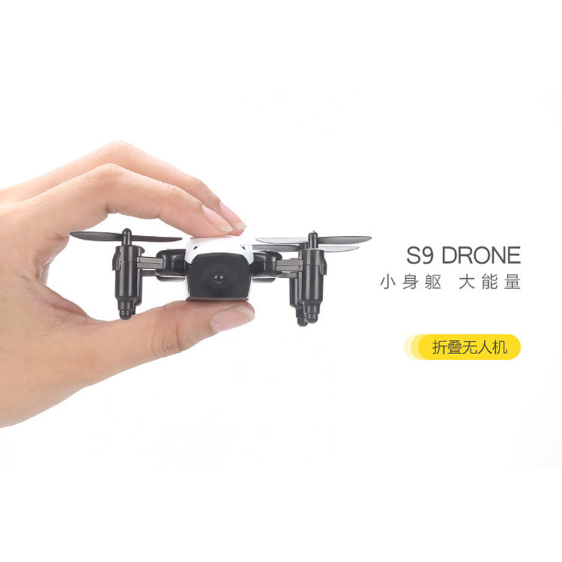 Hot Selling S9 Unmanned Aerial Vehicle High-definition Aerial Photography Drop-resistant Handheld Remote Control Aircraft Mini F
