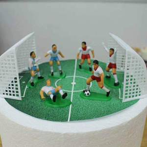 8Pcs/Set Soccer Football Basketball Cake Topper Kids Cupcake Decoration Happy Birthday Party Supplies Baby Children Party Decor(China)