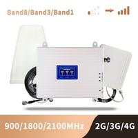 GSM 2G 3G 4G Handy Booster Tri Band Mobile Signal Verstärker LTE Cellular Repeater GSM DCS WCDMA 900 1800 2100 Set-in Signal-Booster aus Handys & Telekommunikation bei
