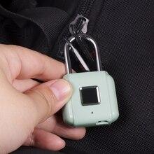 KERUI akıllı anahtarsız parmak izi asma kilit kablosuz parmak izi kilidini USB şarj edilebilir kapı valiz kilidi