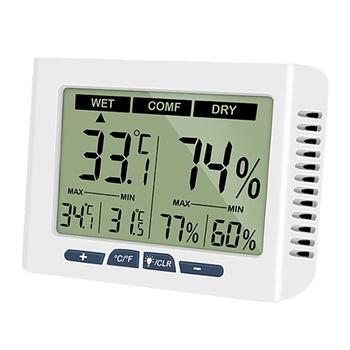 Termometr pokojowy higrometr LCD pulpit cyfrowy miernik temperatury i wilgotności K3KD tanie i dobre opinie OOTDTY NONE CN (pochodzenie) 1 9 Cali i Pod