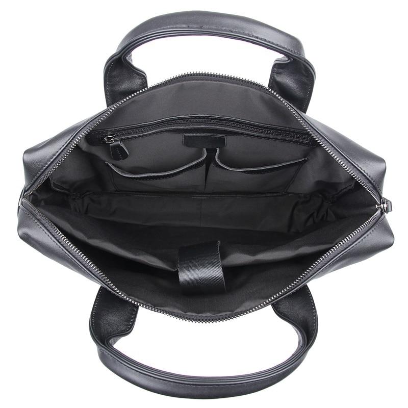 JMD винтажный кожаный мужской черный портфель сумка для ноутбука сумка мессенджер горячая Распродажа 7122A 1 - 5