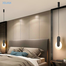 Led-Pendant-Lamp Suspension Living-Room-Lighting Long-Cable Luminaire-Design Bedside
