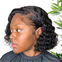 Swinging Forest 13X6 Curly Bob Wig Lace Front Human Hair Wigs For Women Remy Brazilian Hair Wig Plucked With Baby Hair 150%