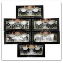 Makeup Eyelashes 3D Mink Lashes Fluffy Crisscross Dramatic False Handmade Reusable E80 Lash 25mm
