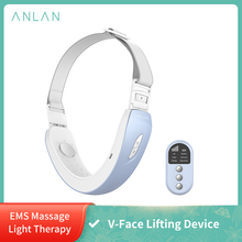 ANLAN V-Face Lifting Device Chin V-Line Up Lift Belt Red Blue LED Photon Light Therapy EMS Massage Face Care Slimming Machine