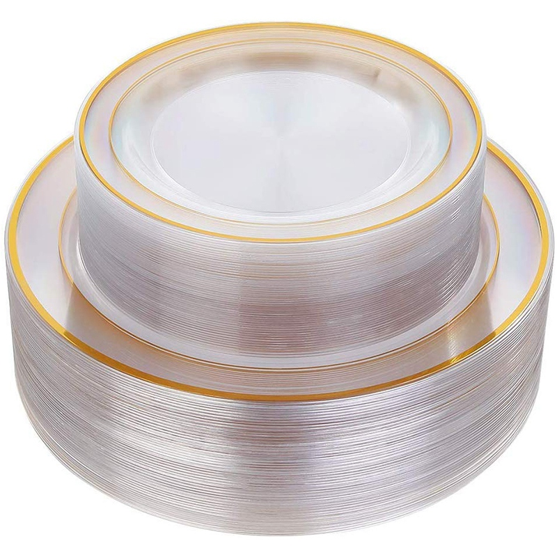 New Gold Plastic Plates 60 Pieces Disposable Wedding Plates Plastic Party Plates Includes  30 Dinner Plates 10 25 Inch and 30