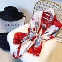 Europe Design Foulard French Horses Print Square Scarves Fashion Shawls Wraps Silk Women Scarf Luxury Brand