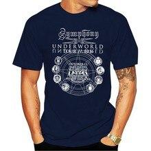 2021 Leisure Fashion 100% Cotton T-shirtSymphony X Underworld Aust Tour L Prog Metal Official