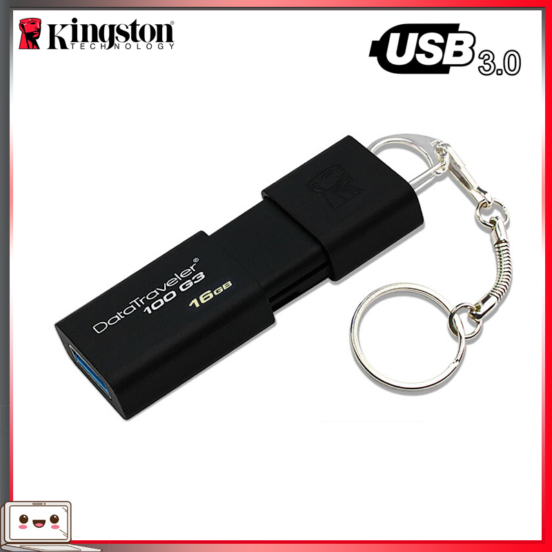 100% Original Kingston DT100G3 USB FLASH Drive 16GB 32GB 64GB 128GB 256GB Memory Stick Cle Stick Pendrive 3.0 Pen Drive USB