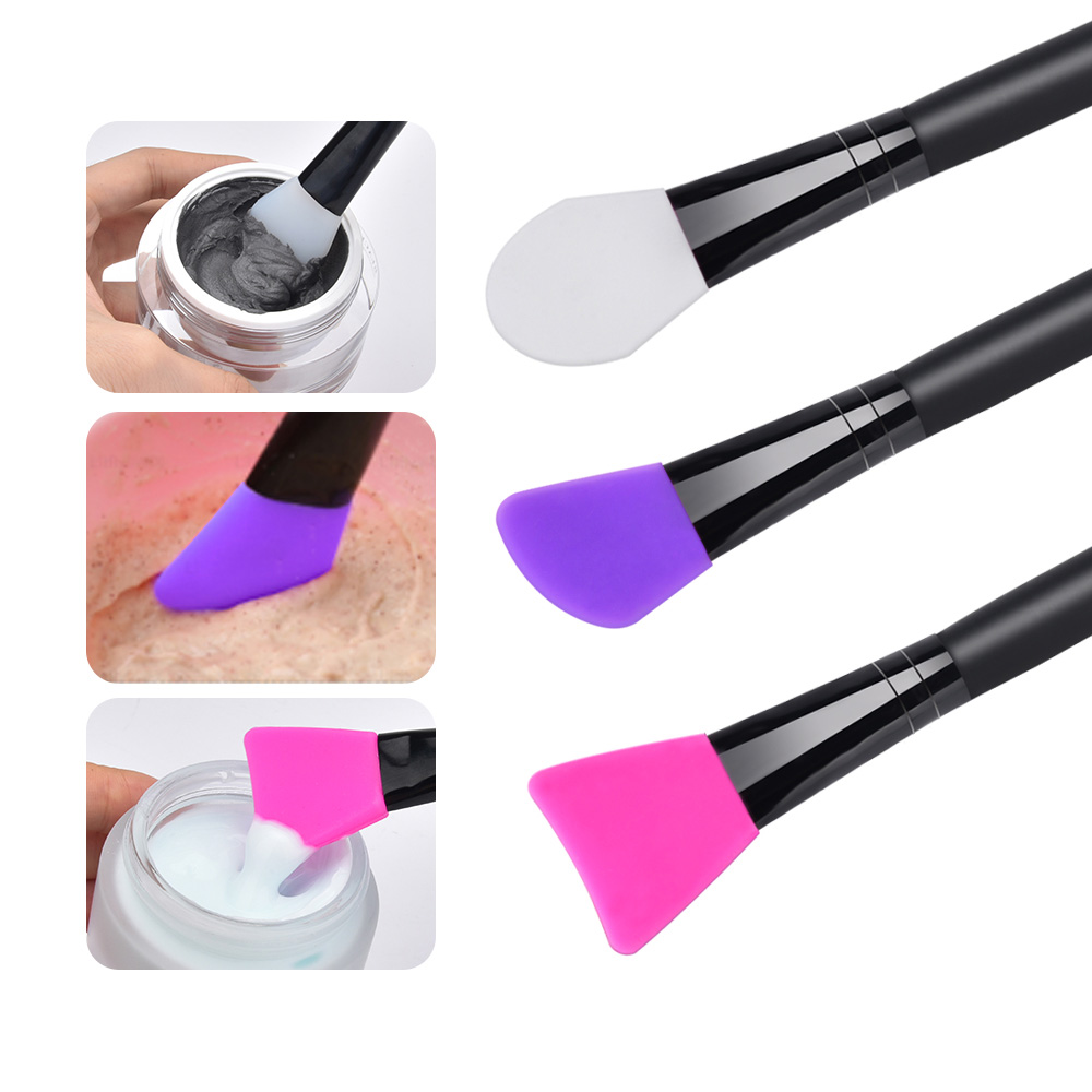 Silicone Brush for Painting Mask in the Face and Mix the Mask Soft Skin Care Tool Accessories