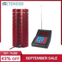 RETEKESS SU-668 Téléavertisseur D'appel de Restaurant Système De Radiomessagerie Sans Fil Système de File D'attente Bipeur téléavertisseur pour clients 10 Téléavertisseurs