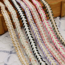 Manufacturers 1cm Polyester Cotton Filigree Weaving Ribbon Color Lace-up Color DIY Handmade Material Clothing Accessories 3 8cm solid color polyester ribbon gift bundle diy material handmade rose bunch ribbon