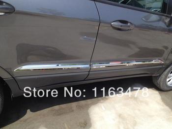 For Ford EcoSport 2013 2014 2015 2016 ABS Chrome Car Decoration Side Door Line Garnish Body Molding Moulding Trim