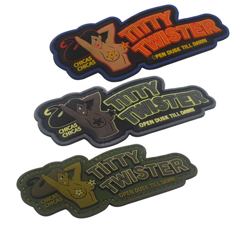 PVC Patch TITTY TWISTER Mode Tactische Militaire Moreel Haak Patch Rubber Patches Armband Combat Badges Voor Kleding Rugzak