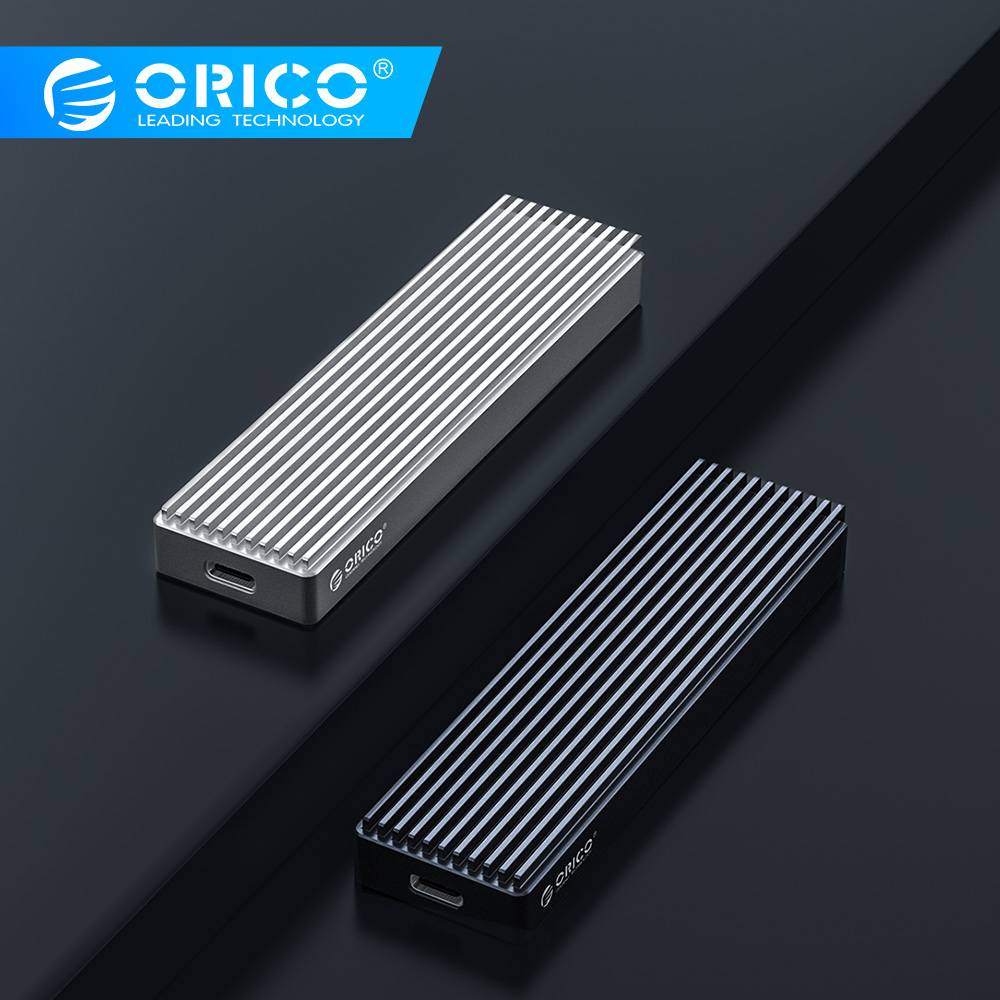 ORICO M2 NVME SSD Case For NVME PCIE M Key M+B Key SSD Disk USB C 10Gbps Hard Drive Enclosure M.2 SSD Box With Type C To C Cable