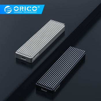 ORICO M2 NVME SSD Case for NVME PCIE M Key MB Key SSD Disk USB C 10Gbps Hard Drive Enclosure M.2 SSD Box With Type C to C Cable